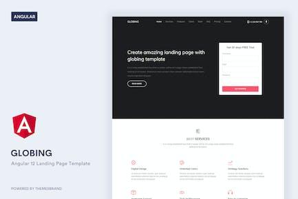Globing - Angular 12 Landing Page Template