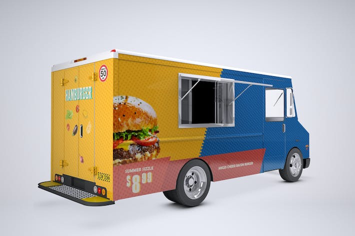 Thumbnail for Food Truck Mock-Up