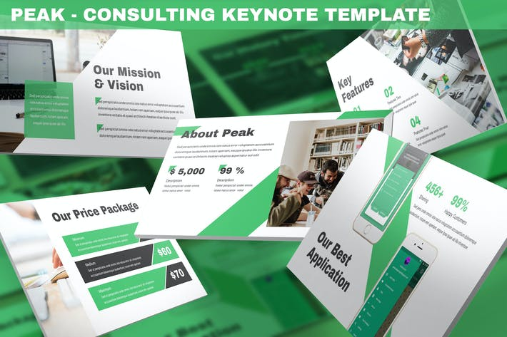 Thumbnail for Peak - Consulting Keynote Template
