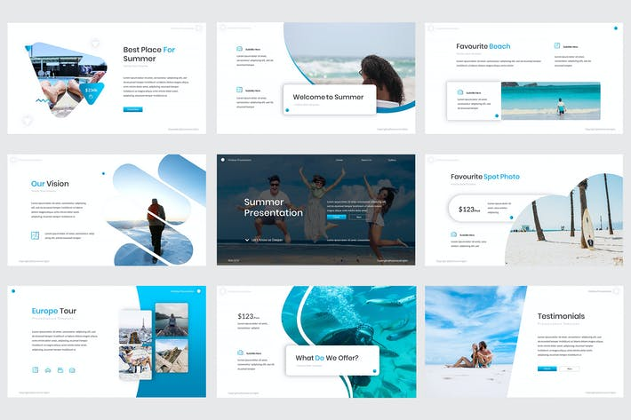 Thumbnail for Summer Keynote Template