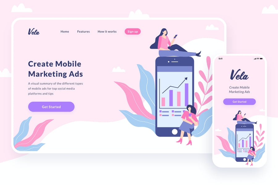 Mobile Marketing Illustration