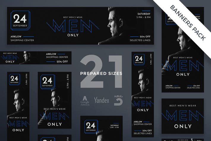 Thumbnail for Menswear Collection Banner Pack Template