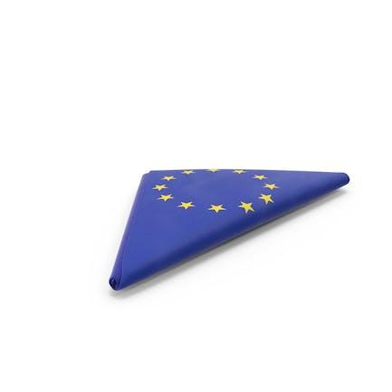 Fahne gefaltet Dreieck EU