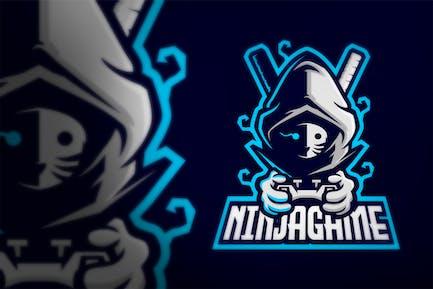 Maskiertes Ninja Gaming Joystick E-Sport Logo