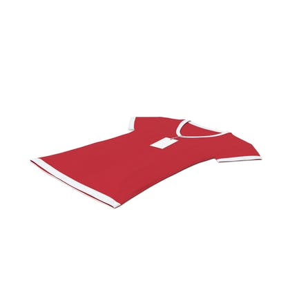Female V Neck Laying With Tag White And Red