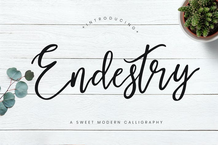 Thumbnail for Endestry Caligrafía Moderno