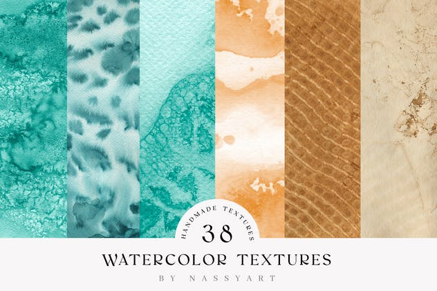 Watercolor Handmade Textures