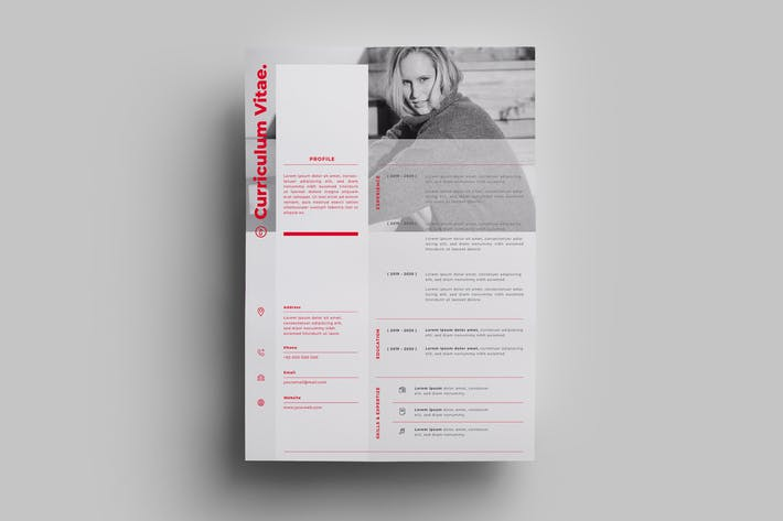 Thumbnail for Resume Design Templates.20