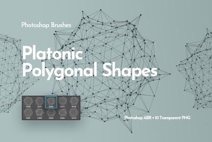 Platonic Polygonal Shapes Photoshop Brushes