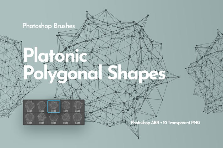 Thumbnail for Platonic Polygonal Shapes Photoshop Brushes