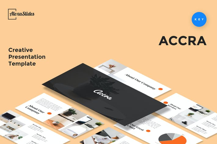 Thumbnail for Accra - Creative Keynote Presentation Template