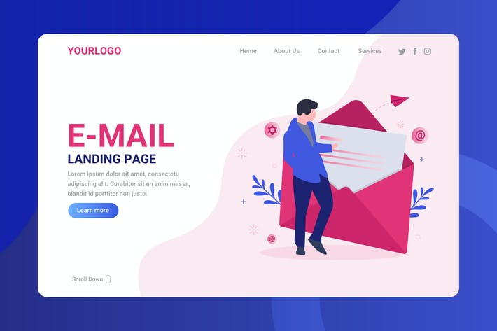 Thumbnail for Email - Landing Page