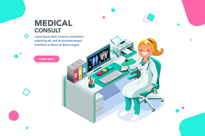 Thumbnail for Medical Consult Web Page Template