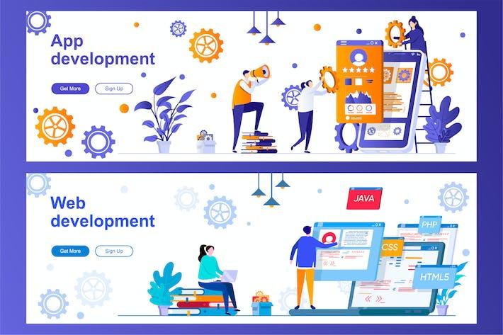 App and Web Development Web Banners