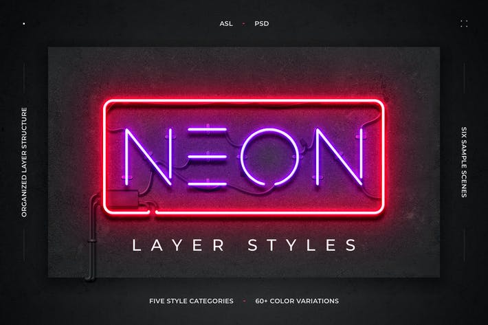 Thumbnail for Neon Layer Styles