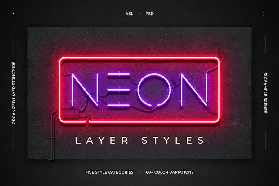 Neon Layer Styles