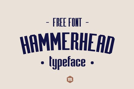 Hammerhead Typeface Industrial Condensed Font