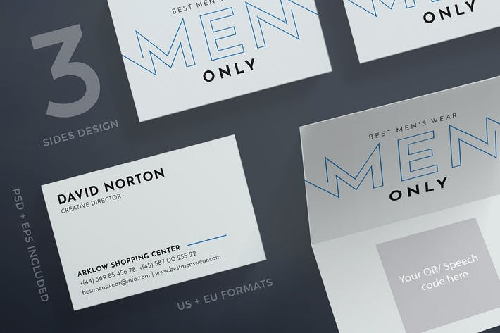 Thumbnail for Menswear Collection Business Card Template
