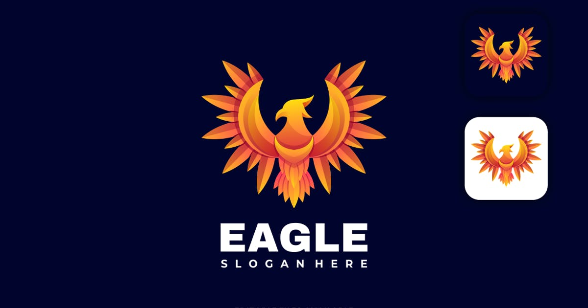 Download Eagle Gradient Colorful Logo by artnivora_std