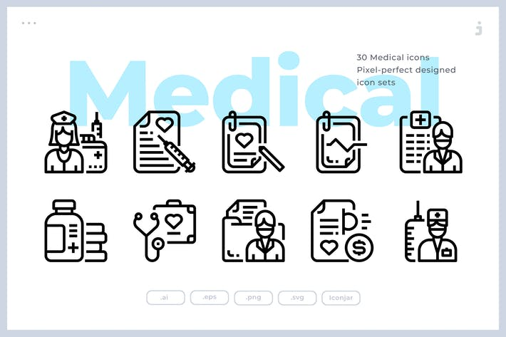 Cover Image For 30 Medical Icons