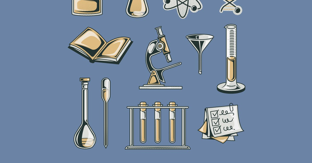 Download Laboratory Illustration Set by Graphicapital