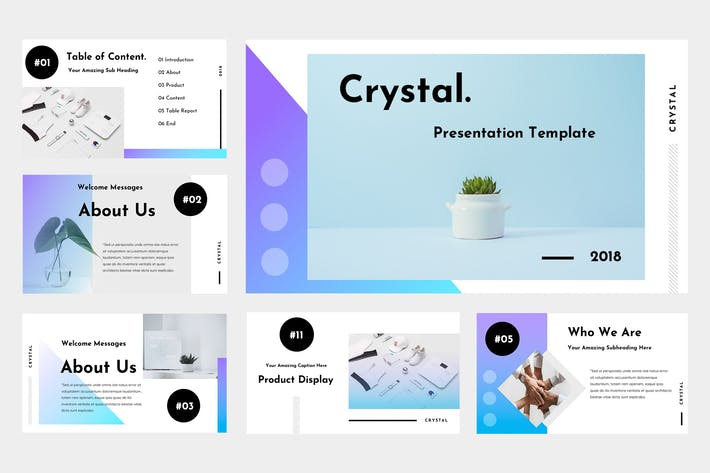 Thumbnail for Crystal Agency Google Slides Presentation