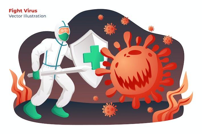 Thumbnail for FIGHT VIRUS - Vector Illustration