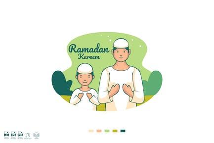 Ramadhan Kareem Vecteur