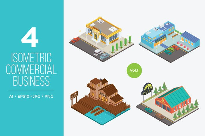 Thumbnail for Isometric Commercial Business Vector 1