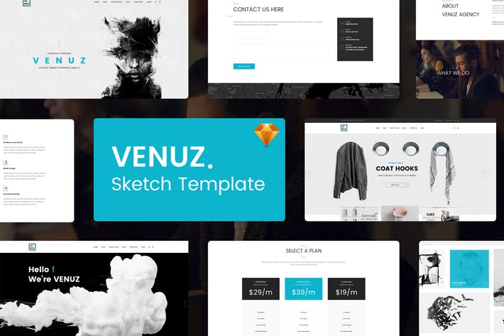 Thumbnail for VENUZ - Business Sketch Template