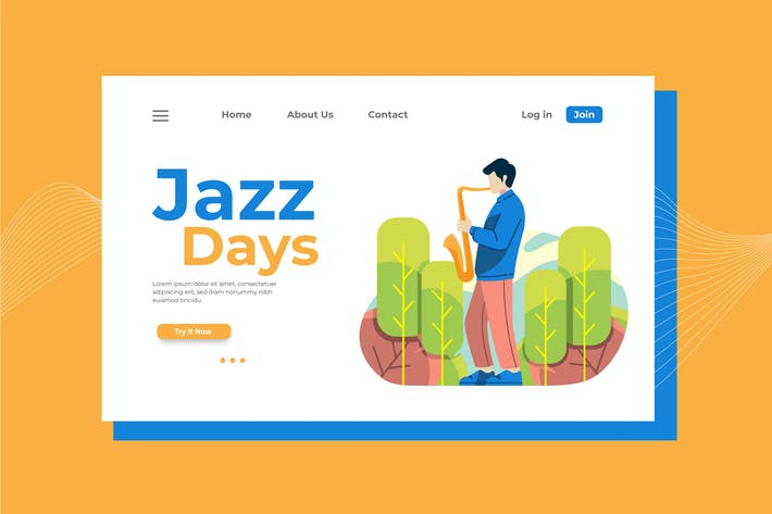 Thumbnail for Jazz Days Landing Page Illustration