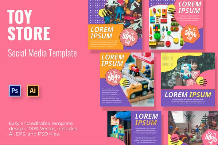Thumbnail for Toy Store Social Media Template