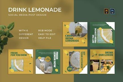 Drink Lemonade | Instagram Post