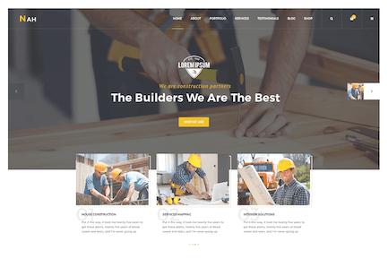 Nah Multipurpose Construction responsive HTML5 Tem