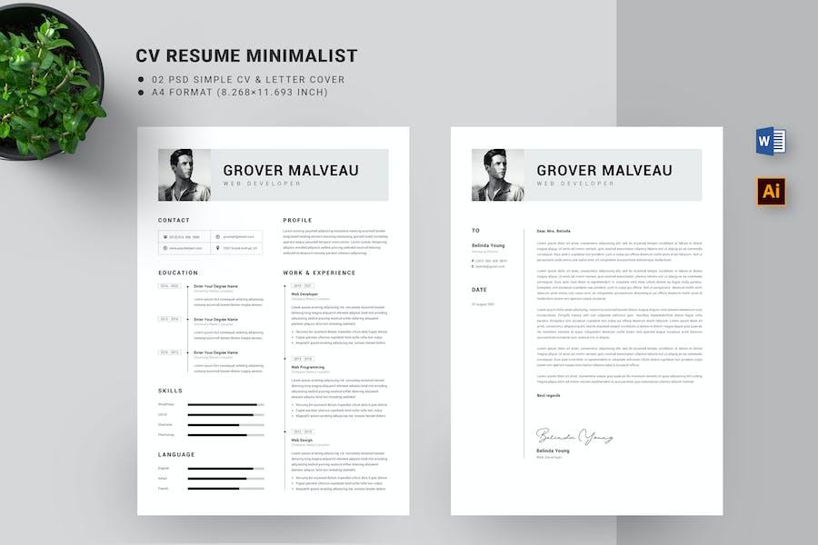 Minimal CV Resume