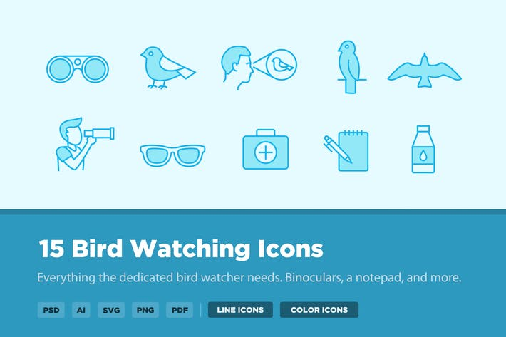 Thumbnail for 15 Bird Watching Icons