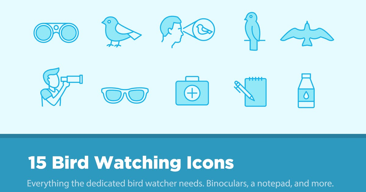 Download 15 Bird Watching Icons by creativevip