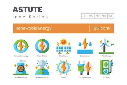 85 Icons für erneuerbare Energien - Astute S
