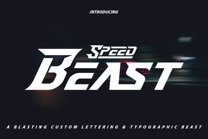 Thumbnail for SpeedBeast | Custom Lettering & Typhographic Font