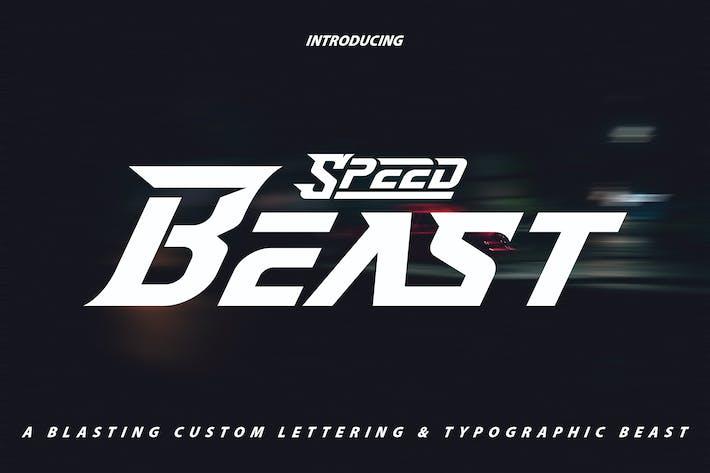 Thumbnail for SpeedBeast | Letras personalizadas y tipografía tifográfica