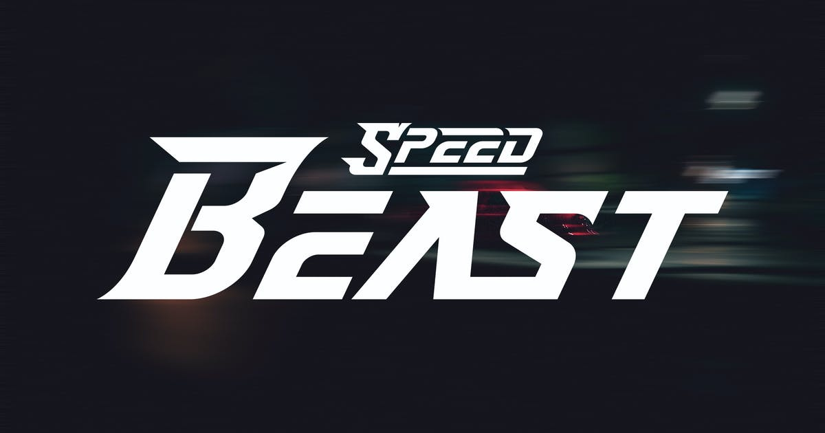 Download SpeedBeast   Custom Lettering & Typhographic Font by Vunira