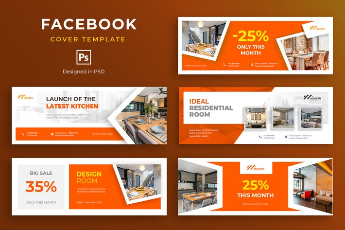 Thumbnail for Furniture Facebook Cover Template