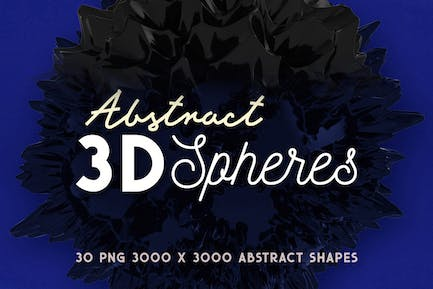 30 Abstract 3D Spheres