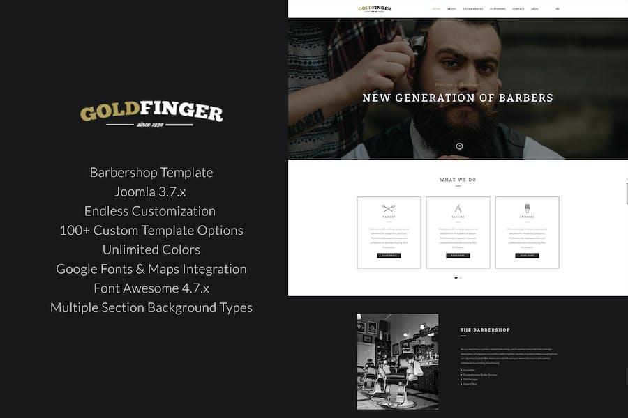 Goldfinger - Barbershop Joomla Template