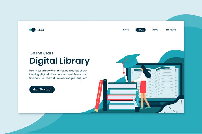 Thumbnail for Digital Library Online Education Landing Page