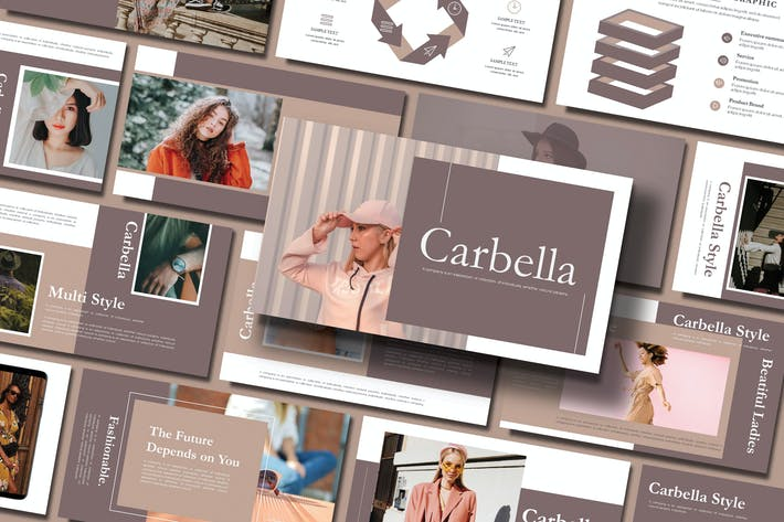 Cover Image For CARBELLA - FASHION Keynote Template