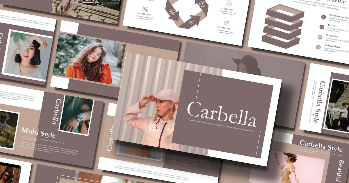 Download CARBELLA - FASHION Keynote Template by joelmaker