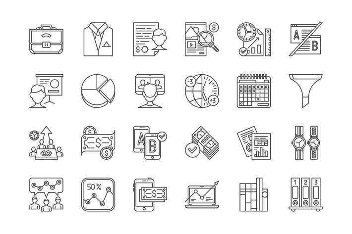Thumbnail for 75 Business, Marketing and Finance Icons