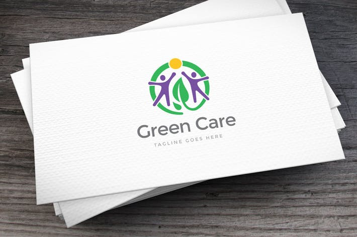 Green Care Logo Template