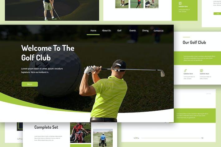 Thumbnail for Golfie - Golf Google Slides Presentation